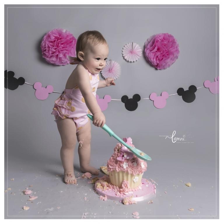 cake smash photography stockport 2